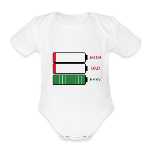 Baby Energy - Body orgánico de maga corta para bebé
