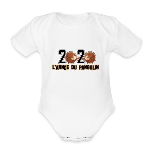2020, année du pangolin - Body Bébé bio manches courtes
