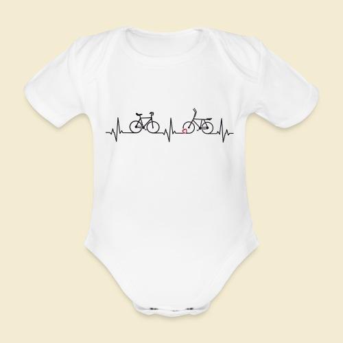 Heart Monitor Kunstrad & Radball - Baby Bio-Kurzarm-Body