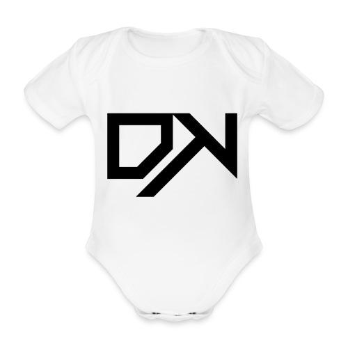 DewKee Logo Cap Black - Organic Short-sleeved Baby Bodysuit