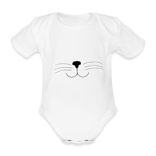 Kat | Vrouwen T-shirt - Baby bio-rompertje met korte mouwen