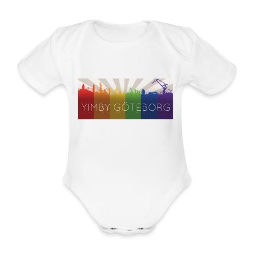 Yimby regnbågs-Tshirt - Ekologisk kortärmad babybody