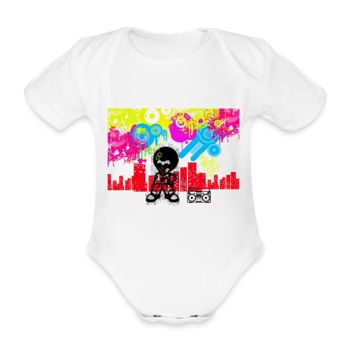 Magliette personalizzate bambini Dancefloor - Body ecologico per neonato a manica corta