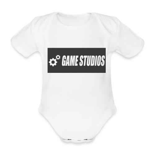 game studio logo - Organic Short-sleeved Baby Bodysuit