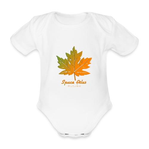 Space Atlas Long Sleeve T-shirt Autumn Leaves - Kortærmet babybody, økologisk bomuld