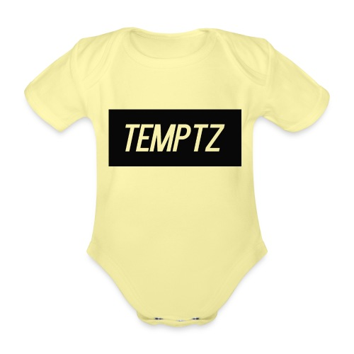 TempTz Orignial Hoodie Design - Organic Short-sleeved Baby Bodysuit