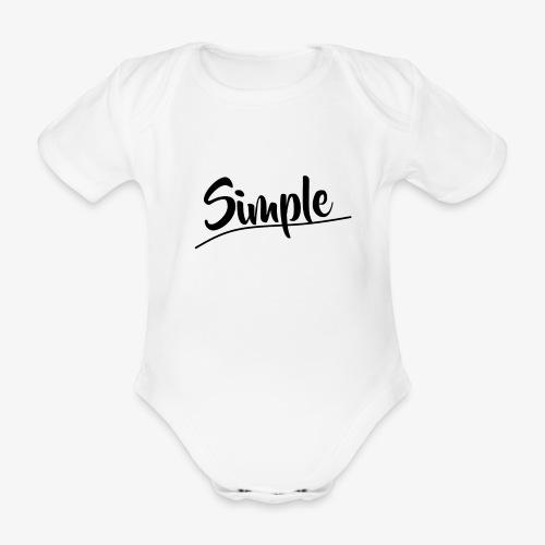 Hettegenser (Svart style logo) - Økologisk kortermet baby-body