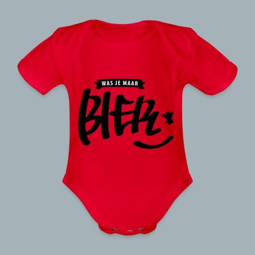 Bier Premium T-shirt - Baby bio-rompertje met korte mouwen