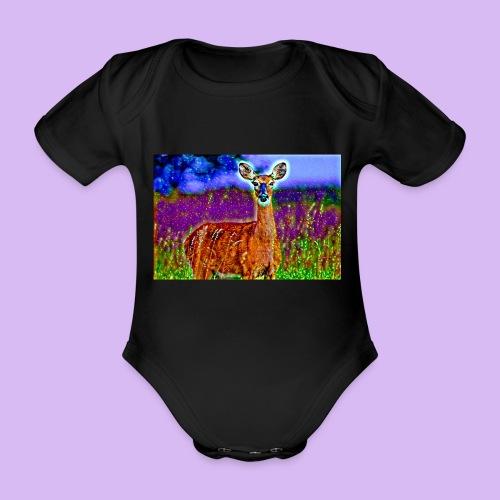 Cerbiatto con magici effetti - Body ecologico per neonato a manica corta
