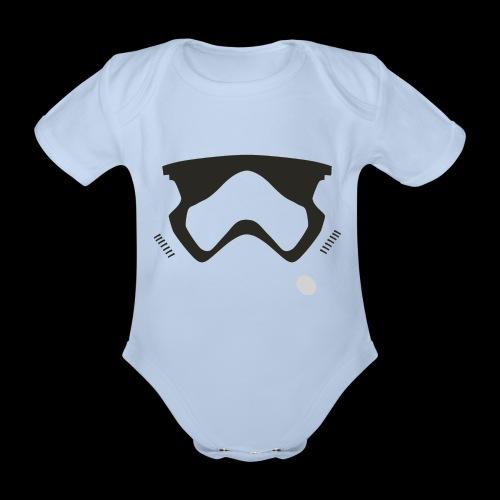 Modern Stormtrooper Face - Organic Short-sleeved Baby Bodysuit