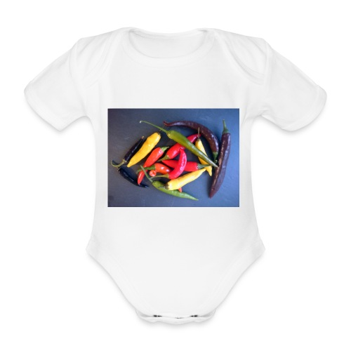Chili bunt - Baby Bio-Kurzarm-Body