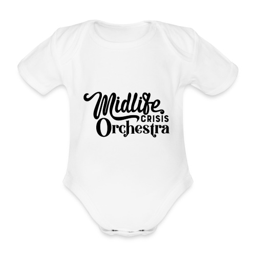 Midlife Crisis Orchestra svart logo - Ekologisk kortärmad babybody