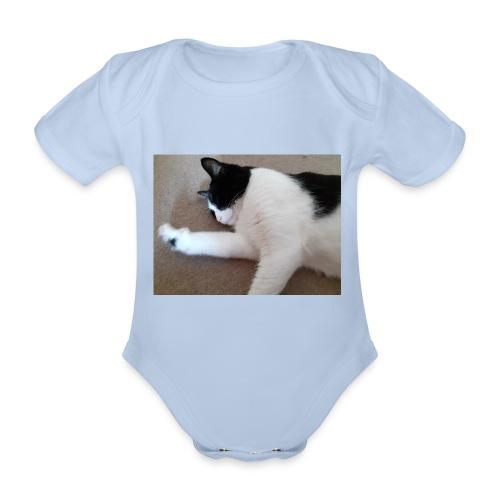 Chill like a cat! - Organic Short-sleeved Baby Bodysuit