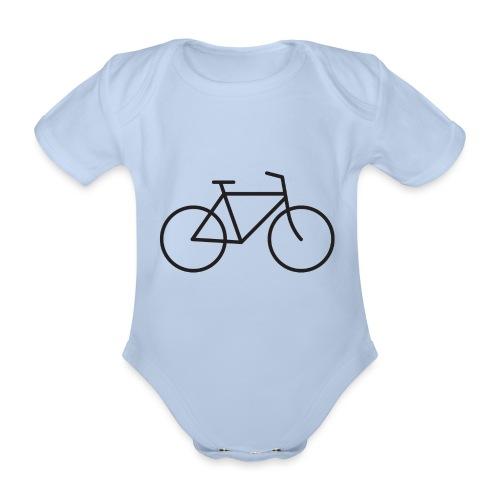 Bicycle black - Polkupyörä musta - Vauvan lyhythihainen luomu-body