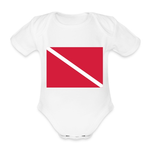 Diver Flag - Organic Short-sleeved Baby Bodysuit