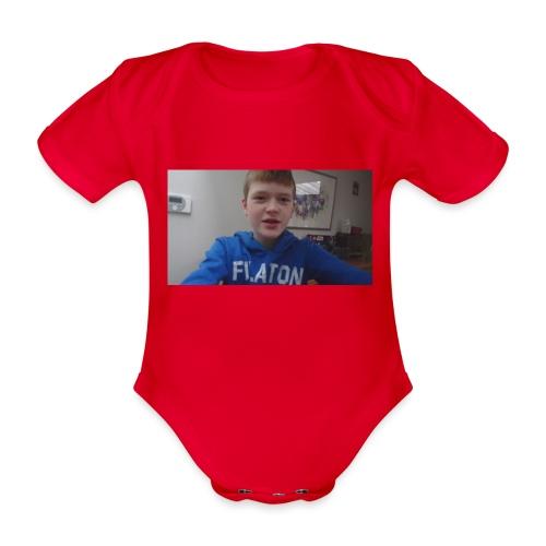 roel t-shirt - Baby bio-rompertje met korte mouwen
