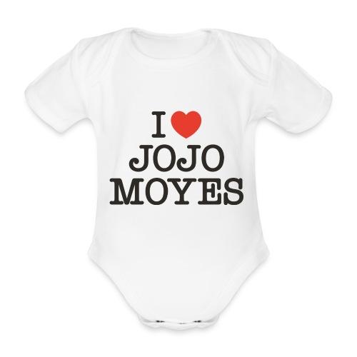 I LOVE JOJO MOYES - Kortærmet babybody, økologisk bomuld