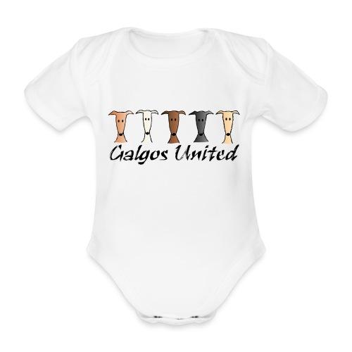 Galgos united - Baby Bio-Kurzarm-Body