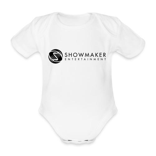 Schowmaker Logo schwarz - Baby Bio-Kurzarm-Body