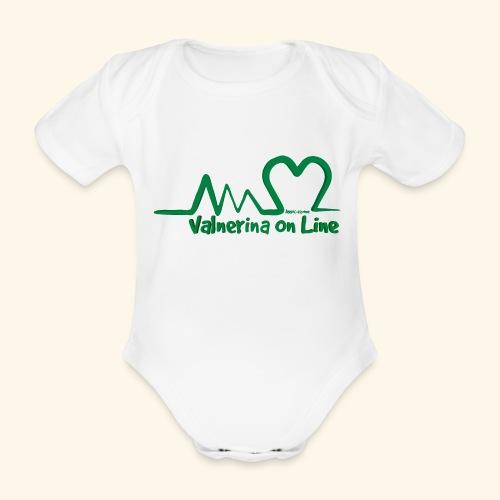 logo verde Associazione Valnerina On line - Body ecologico per neonato a manica corta