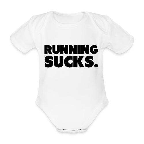 Running Sucks - Vauvan lyhythihainen luomu-body