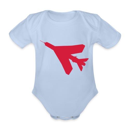 BAC English Electric Lightning Silhouette - Organic Short-sleeved Baby Bodysuit