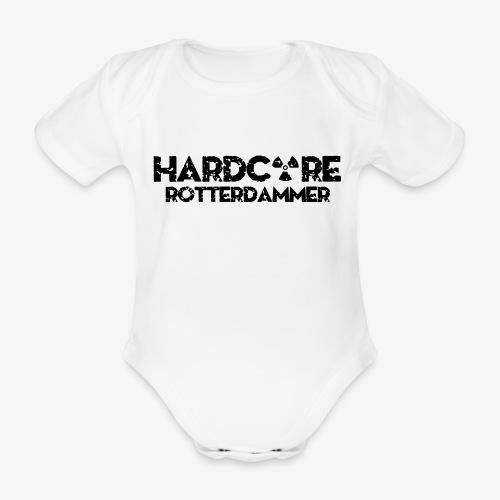 Hardcore Rotterdammer - Baby bio-rompertje met korte mouwen