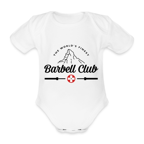 The world's finest Barbell Club _black - Baby Bio-Kurzarm-Body