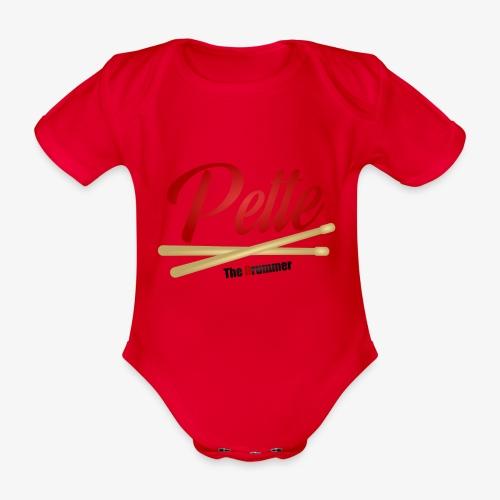 Pette the Drummer - Organic Short-sleeved Baby Bodysuit