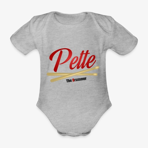 Pette the Drummer - Organic Short-sleeved Baby Bodysuit