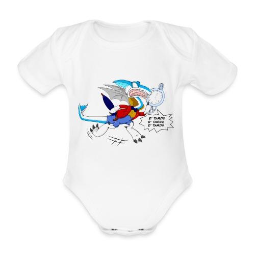 BiancoDrago Nix - Body ecologico per neonato a manica corta