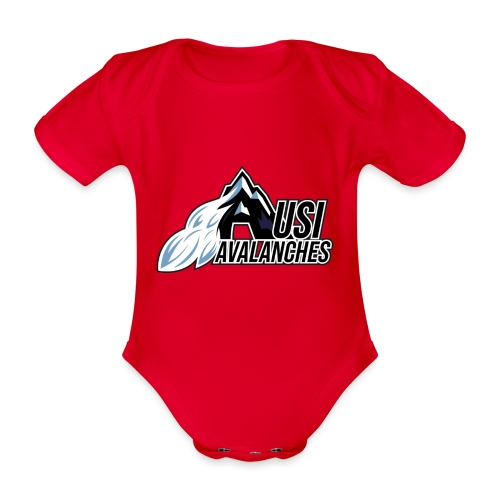 USI Avalanches white - Baby Bio-Kurzarm-Body