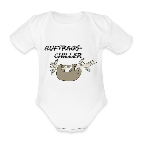 Faultier Auftragschiller - Baby Bio-Kurzarm-Body