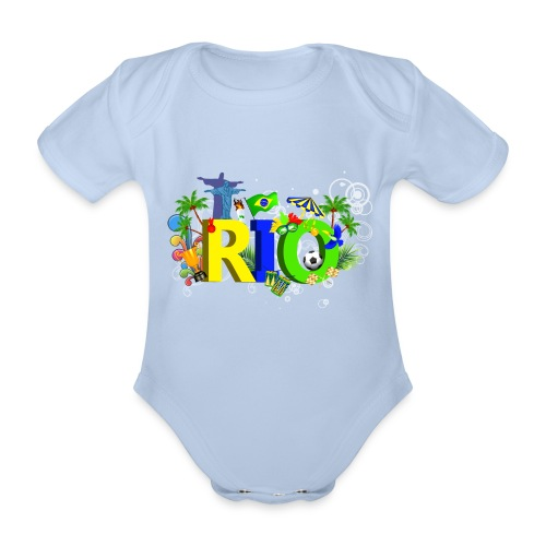 Rio de Janeiro Summer - Organic Short-sleeved Baby Bodysuit