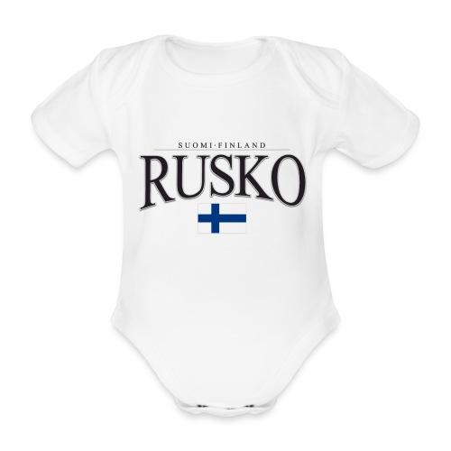 Suomipaita - Rusko Suomi Finland - Vauvan lyhythihainen luomu-body