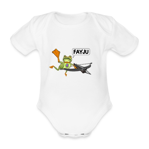 Amazing Frog Crossbow - Organic Short-sleeved Baby Bodysuit