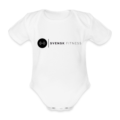 Svart logo vertikal dam - Ekologisk kortärmad babybody