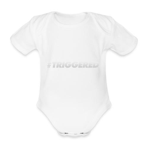 TRIGGERED - Organic Short-sleeved Baby Bodysuit