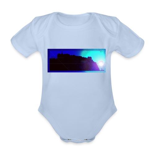 Silhouette of Edinburgh Castle - Organic Short-sleeved Baby Bodysuit