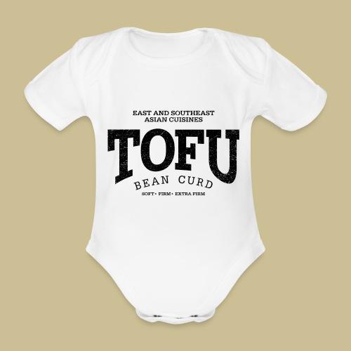 Tofu (black oldstyle) - Baby Bio-Kurzarm-Body