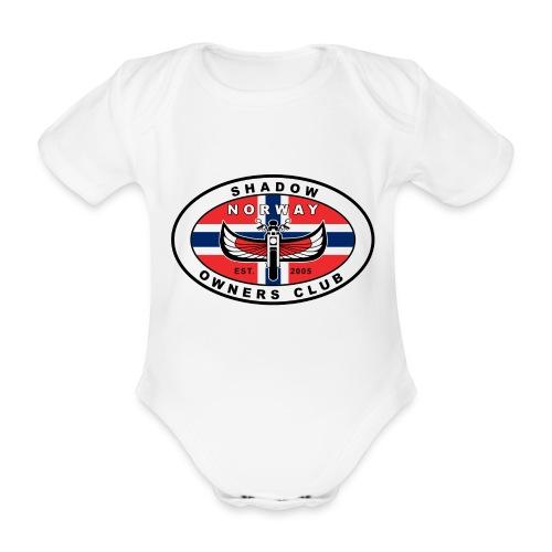 SHOC Norway Patch jpg - Økologisk kortermet baby-body