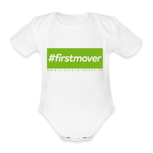 #firstmover - Baby Bio-Kurzarm-Body