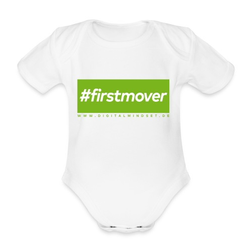 #firstmover - Baby Bio-Kurzarm-Body