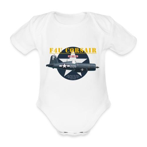 F4U Jeter VBF-83 - Organic Short-sleeved Baby Bodysuit