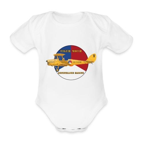 Tiger Moth Kon Marine - Organic Short-sleeved Baby Bodysuit
