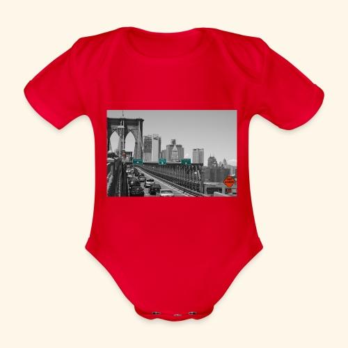 Brooklyn bridge - Body ecologico per neonato a manica corta