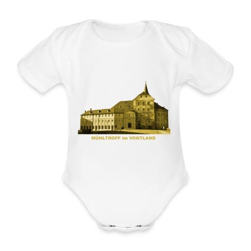 Mühltroff Burg Schloss Vogtland Sachsen - Baby Bio-Kurzarm-Body