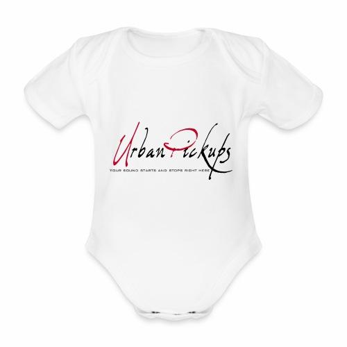 Logga röd och svart - Ekologisk kortärmad babybody