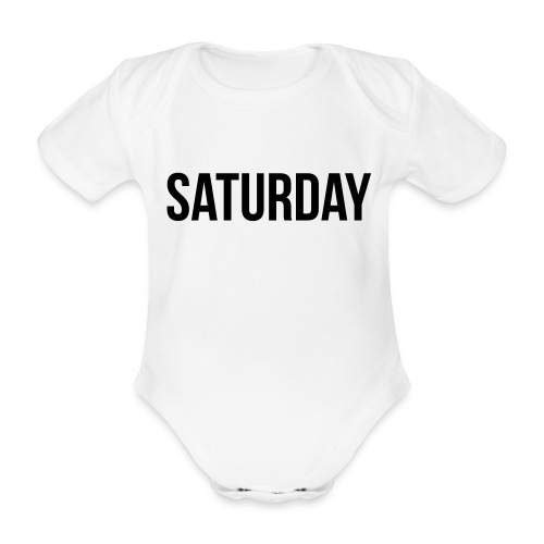Saturday - Organic Short-sleeved Baby Bodysuit