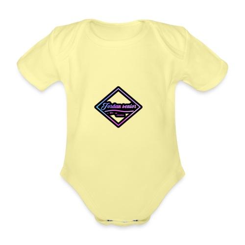 jordan sennior logo - Organic Short-sleeved Baby Bodysuit
